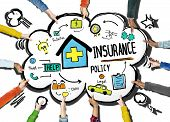 image of policy  - Diversity Hands Insurance Policy Volunteer Support Help Concept - JPG
