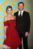 LOS ANGELES - JAN 11:  Lili Simmons, Tom Pelphrey at the HBO Post Golden Globe Party at a Circa 55, Beverly Hilton Hotel on January 11, 2015 in Beverly Hills, CA