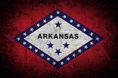 Grunge flag of Arkansas.