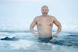 stock photo of peppy  - peppy Man in ice - JPG