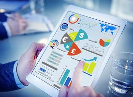 foto of economy  - Finance Financial Business Economy Exchange Accounting Banking Concept - JPG