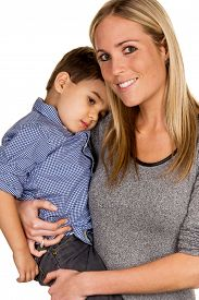 foto of stepmother  - mother and son symbol of love - JPG