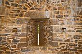 Guedelon castle arrow slit