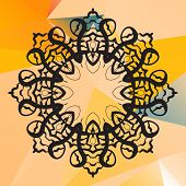 foto of indian  - Indian mandala vector - JPG