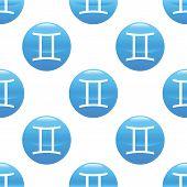 stock photo of gemini  - Round sign with zodiac gemini symbol - JPG