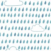 picture of raindrops  - Cute seamless pattern with clouds and raindrops - JPG