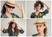 ������, ������: Stylish Woman Collage Retro Styling
