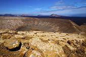 foto of volcanic  - vulcanic timanfaya rock stone sky hill and summer in los volcanes lanzarote spain - JPG