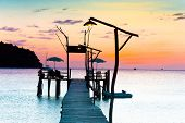 stock photo of nightfall  - Evening Meditation Nightfall by the Sea  - JPG