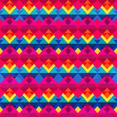 picture of psychedelic  - psychedelic triangle seamless pattern  - JPG