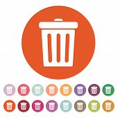 image of dustbin  - The trashcan icon - JPG