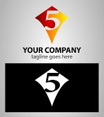 picture of 5s  - number five 5 logo icon design template elements - JPG