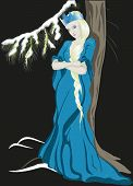 image of snow queen  - The Snow Queen with a crown - JPG