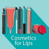stock photo of  lips  - Cosmetics for Lips  - JPG