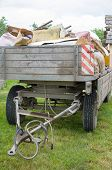 image of junk-yard  - House Clearance Trailer in the Backyard Full of Junk - JPG