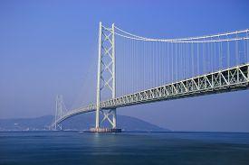 foto of suspension  - Akashi Kaikyo Bridge the world - JPG