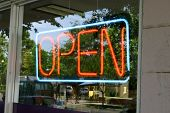 NEON Open voor Business Sign